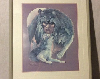 """Carole Bourdo """" I am Wolf"""" limited edition print"""