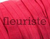 Fold Over Elastic, Stretch Elastic, Foldover Elastic, Elastic By The Yard, 5/8 Elastic, Solid Elastic, Wholesale Elastic, FOE, Cherry Red