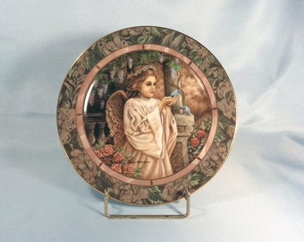 """Donna Richardson """"Charity"""", The Bradford Exchange Limited Edition, Second Issue Collector Plate, Gardens of Innocence"""