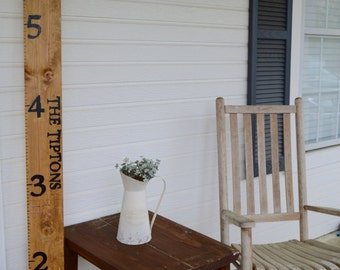 Wood Sign- Growth Chart Custom Ruler Sign