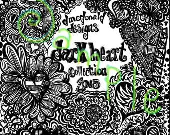 Coloring Book Collection - Dark Hearts