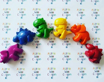 Rainbow Dinosaur Crayons