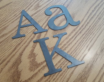 """8"""" Metal letters, numbers and signs (8 inches tall)"""