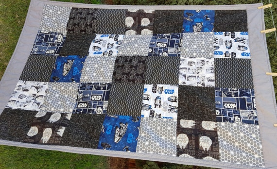 Custom Quilt Made With Star Wars Fabric Lap Quilt Throw