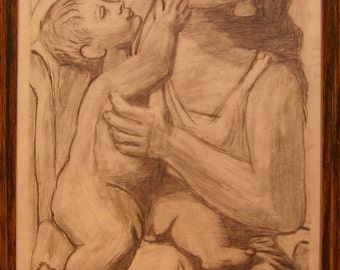 Woman with Child after Picasso