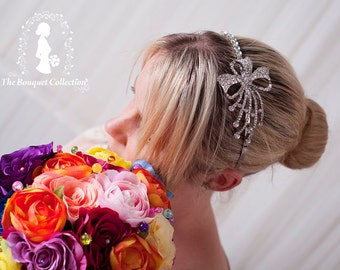 Beautiful Wedding hair side Tiara