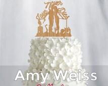 Wedding Cake Topper - zombie  'Love never dies' - AW1053W