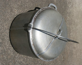 1930s Guardian Service Ware Large Stock Pot With Aluminum Lid