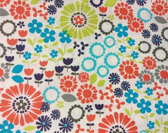 Floral Fabric Quilting or Apparel 100% Cotton Woven