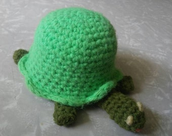 Handmade Crocheted Turtle Pin Cushion