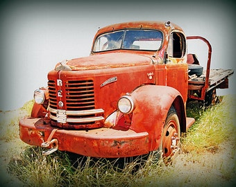 Card - red truck