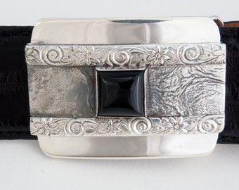 hand crafted silver dress buckle