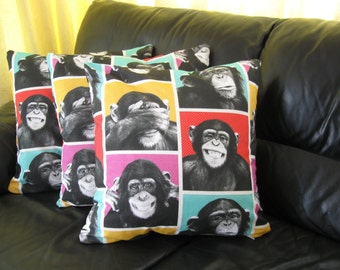 Cheeky Monkey cushion cover