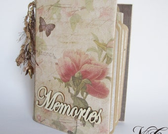Botanical Album, Photo album, Personalized album, Elegant Scrapbook Photo Album