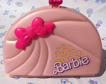 Barbie 80s- 90s Pastel Pink Plastic Box for Jewelry and Accessories Storage - Fairy Kei - Spank!- Cult Party Kei