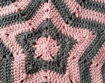 Star blanket/ Star baby blanket/ baby blanket/ lovey blanket/ security blanket/ toddler blanket