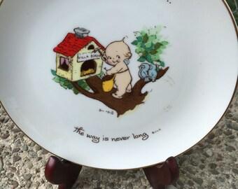 Vintage Kewpie Collectible Plate