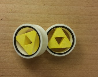 3D Zelda Triforce Plugs Hand Painted 3d printed