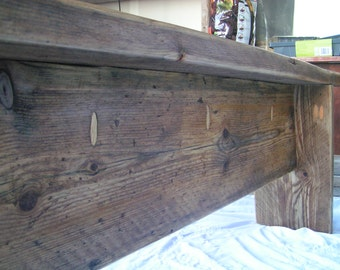 5 ft Reclaimed wood Bench