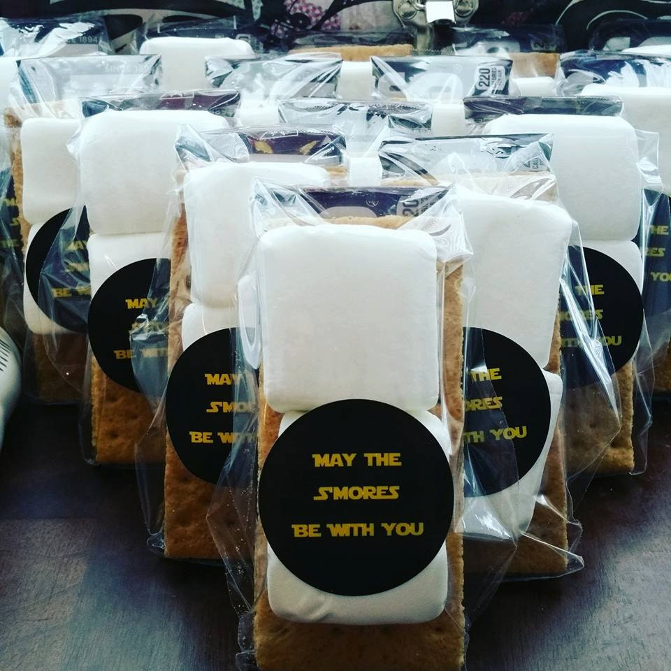 May The Fourth Be With You Party Supplies: May The S'mores Be With You Party Favor-Star Wars Party