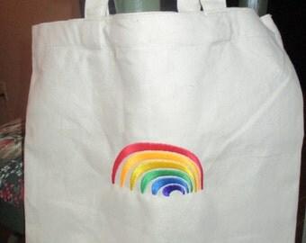 Canvas Rainbow Tote