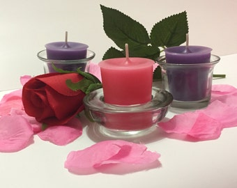 Scented Votive Candles, Set of 3, Custom Colour & Scent, Unique Gift, Christmas Gift, Christmas Candles, Wedding Favours, Decor Candles