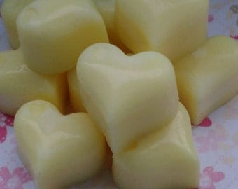 10 heart shaped wax melts