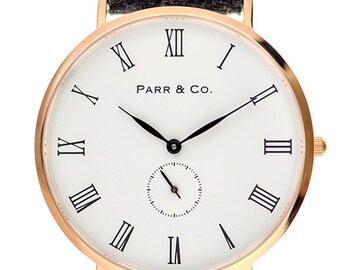 Parr & Co. - Rose Gold Watch with Dark Gray Tweed Strap - Founder's Edition