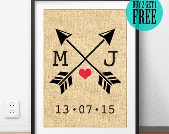 Personalized, Love Sign, Arrow Sign, Lover Print, Anniversary Gift, Wedding Gift, Engagement Decor, Rustic Home Decor, Wall Decor, CM29