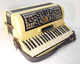 Accordion Royal Standard Piano Accordion 120 Bass Button German Acordeon Vintage Musical Instrument Accordeon Accordian
