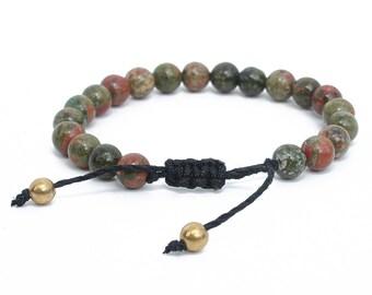 Unakite x Hemp Bracelet - Spiritual, ethically sourced vegan jewellery.