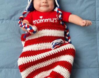 Patriotic Cocoon & Hat