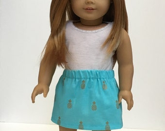 18 inch doll cinched skirt