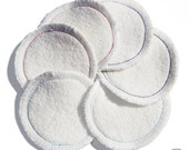 Bulk 6 reusable cleansing pads - zero waste - cleansing washable cottons - cleansing pads - washable face cleansers