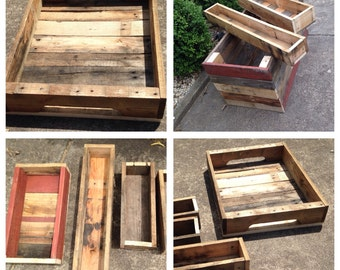 Pallet planter boxes various sizes made to order