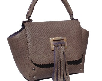 Grace Brown & purple handbag