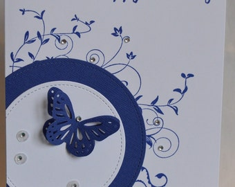 Handmade -Birthday Card - Butterfly - (HBCHB16)