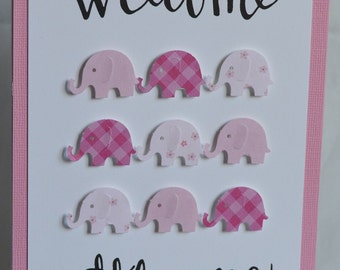 Handmade - New Baby Card - 3D - Elephant -  (HBCNB01)