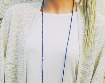 two-tone double-wrap necklace