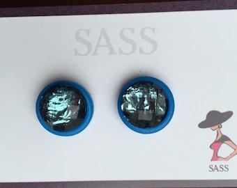Style button earrings.