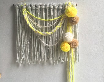 Wall Hanging // Handmade Tapestry Weaving Fiber Textile Wall Art Home Decor Redhouseloves