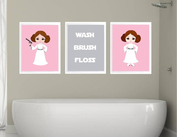 Items similar to girl stars wars bathroom decor bathroom for Bathroom decor rules
