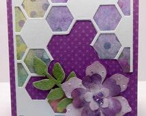 Hexagon Flower Card