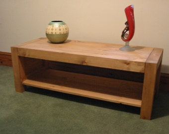 Hand Made Hand Waxed Solid Pine Coffee Table