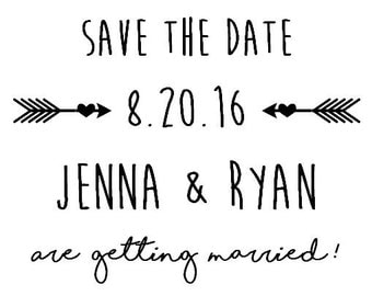 Printable Wedding Save the Date Postcards