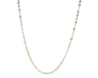 "18K Gold Plated Cable Neck Chain, 16.5"" (1225)"