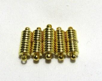 5 Goldtone Magnetic Clasps 6 x 16mm (B59i9)
