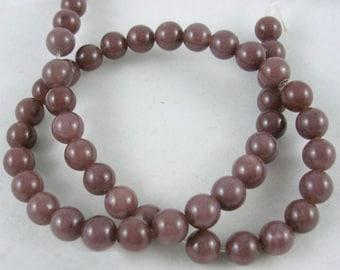 1 Strand Natural Purple Aventurine Gemstone Round Beads 8mm (B10)
