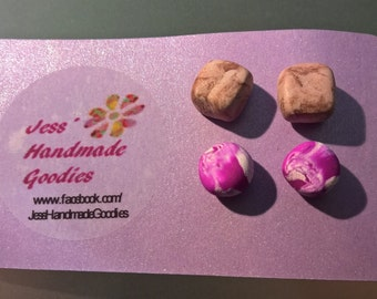 Set of 2 Polymer Clay Studs