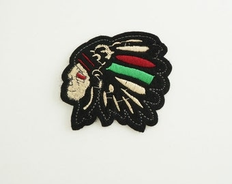 Indians Embroidered Iron On Sew-on Applique Patch